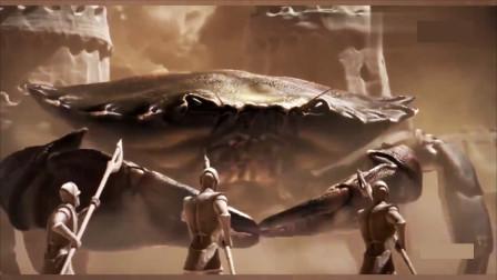 史前最大的螃蟹,横扫城堡如入无人之境,守城将军拼死抵抗
