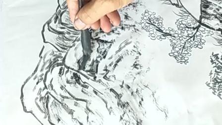 水墨画完整创作过程欣赏!轻描淡写诗情画意,勾起无数人的回忆!