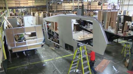 房车工厂内是长啥样子?一个视频告诉你系列二(大型拖挂房车)