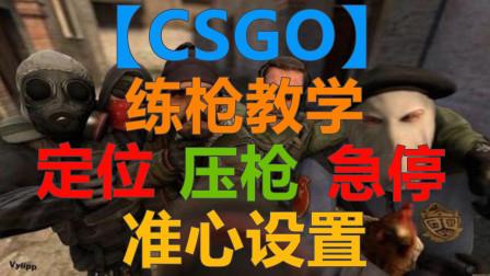 【CSGO】练枪教学新人必学 急停 压枪 定位 准心设置
