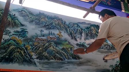 中国水墨画艺术:这毛笔画的可以呀,没有功底画不出来!