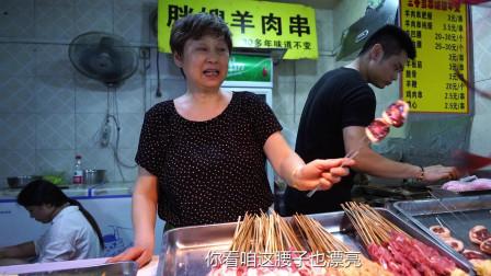 郑州一家只卖炸羊肉串的店,30多年食客紧追随,一天卖上千串
