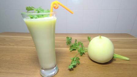 香瓜奶昔: 香甜细腻,入口顺滑的水果奶昔,很美味哦