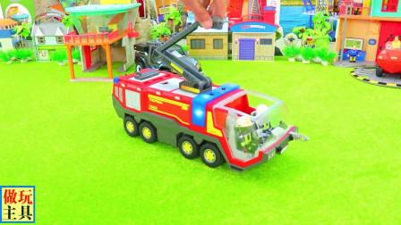 益智消防车和救护车玩具,很不错哦