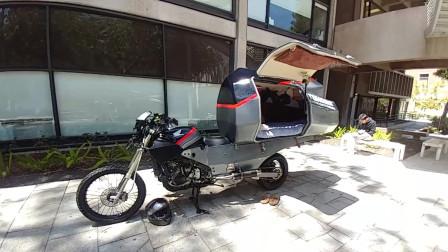 爱旅行的朋友有福了!摩托房车问世,开到哪里睡到哪!