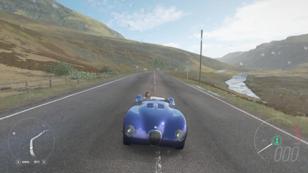 地平线4 1958年的捷豹跑车,真怕发动机突然着火