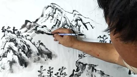 民间老画匠水墨画欣赏:古风韵味十足,真的是太美了!