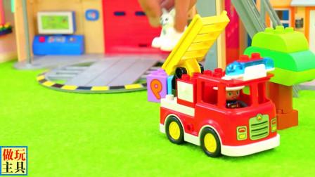 救援直升机和消防车很给力,不错的益智玩具