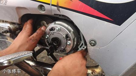 摩托车上坡无力;油门加大跑不快,这种情况你知道该怎么修理吗?