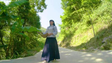 贵州农村大山里,用树叶做了自带仙气的豆腐,吃得很过瘾