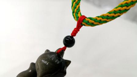 金金说手工编绳99:绑吊坠方法2