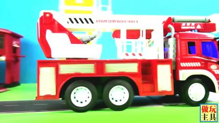 消防车中的云梯很不错哦