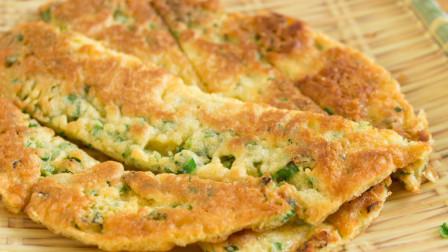 营养高,制作简单的韭菜鸡蛋饼,家常必备的美味,超好吃!
