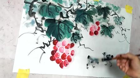 中国水墨画艺术,古风韵味十足,画出来的作品真是漂亮!