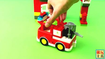 给力的消防车玩具,小朋友的益智玩具