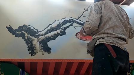 水彩颜料居然还可以这么画画,这流畅的线条,成品真是太好看了!