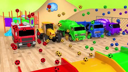 白色救护车街道车辆玩具组装汽车足球4色轮胎儿童
