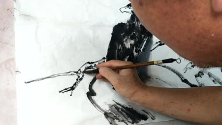 国画:教你画一幅雄鹰,色彩饱满,层次鲜明,一看就会!