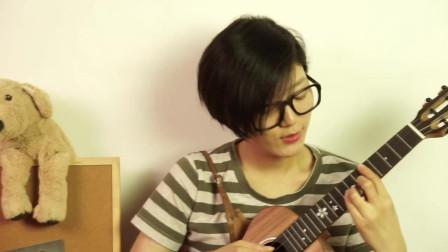 刘子萱尤克里里弹唱after 17 uku樱花相思木单板 靠谱吉他乐器