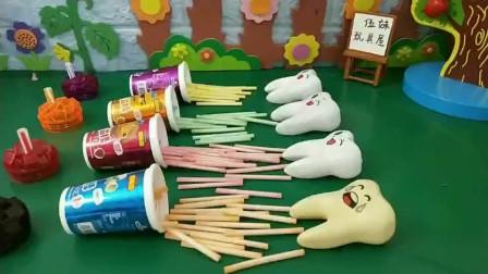 爱吃糖的牙齿哭了!你能送它一粒药吗?
