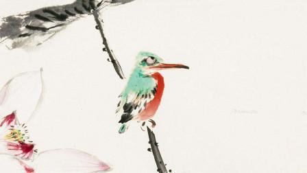只需要6笔就可以画出一只颜色鲜艳,神形可爱的翠鸟!简直不敢相信