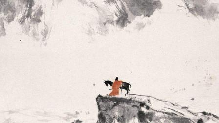 国画:边关冷月风萧萧,大漠茫茫沙如雪