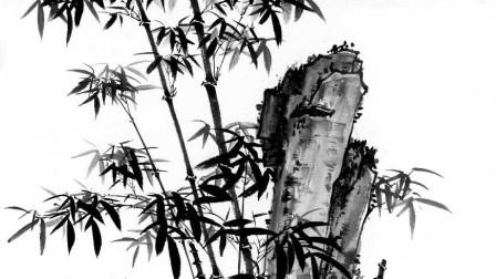 竹子代表节节高升,2分钟教你画出一大片竹林,原来国画这么简单