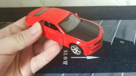 汽车玩具模型 彩珀合金车模 雪佛兰科迈罗 红色大黄蜂 1比43
