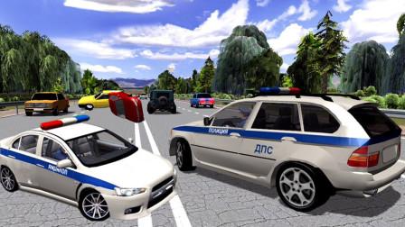 【永哥玩游戏】警察驾驶警车城市模拟巡逻救援 交警查车