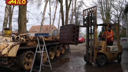 坦克内部大拆解翻新,工作量很大!