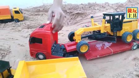 超棒的推土机和挖掘机,工程车干活麻利