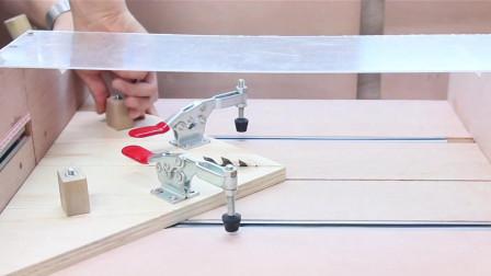 「木工工具」自制45度木工平台锯切割配件