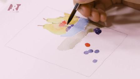 小清新水彩插画,手绘一个梨,赶紧来看看吧!