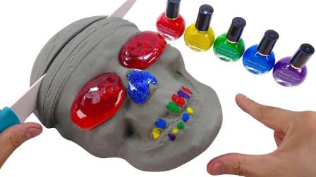 手工益智玩具太空沙 水晶泥和指甲油创意DIY制作面具