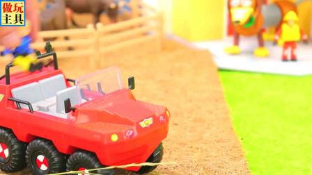 儿童工程车挖掘机铲车和益智消防车玩具
