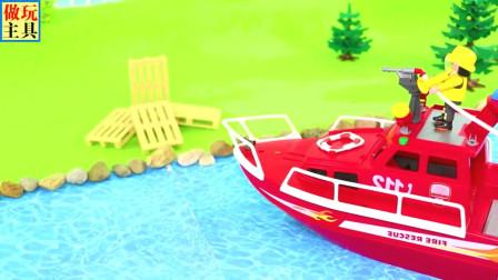 儿童警车拖车和吊车玩具,益智有趣的玩具