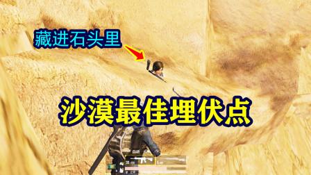 和平精英:沙漠最佳埋伏点!是最常见的石头!学会就无敌