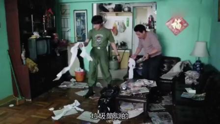 吴孟达的房间想不到是这个样子,到处都是纸巾和杂志