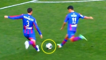 他认真的把球放在身前,然后摆了一个很酷的姿势,结果打脸了