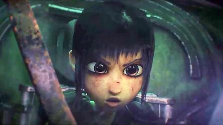 CG科幻动画短片《蓟花一号》,机甲少女与残暴怪兽的废墟对决!