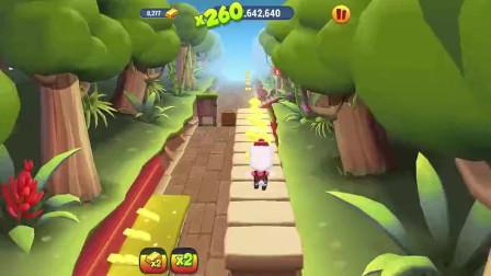 汤姆猫游戏:安吉拉猫没有装备,要小心翼翼跑酷