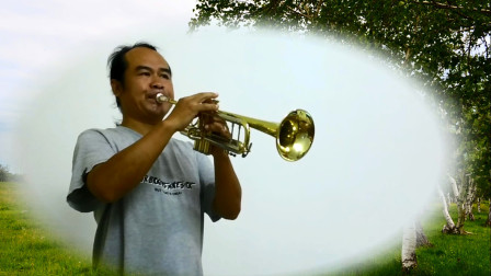 小号演奏《城里的月光》,这首歌原唱是新加坡女歌手许美静