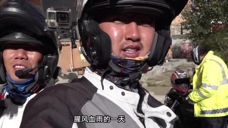 因前一天队友摩托车坏了,耽误了时间,无奈只能住在海拔4500米的理塘!