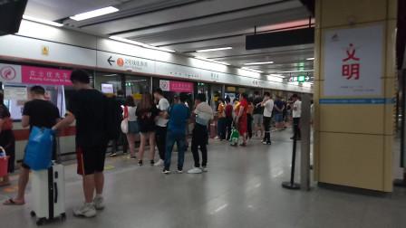 深圳地铁2号线238(支援5号线)到达黄贝岭站&换乘2号线客流