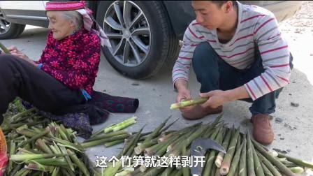 华农兄弟:这里的竹笋多到没人要,半小时就掰了一大堆