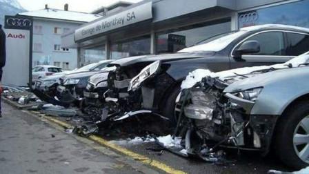 疑惑?新手女司机试驾奥迪,错把油门当刹车,连撞21辆奥迪,结果却不用赔