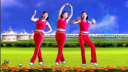超强瘦腰收腹健身舞《原则》每天跳跳这支舞,你不瘦都难三人版