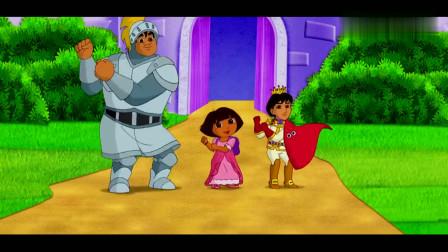 爱探险的朵拉:米迦王子把巨人变成了巨人武士,真是太棒了!