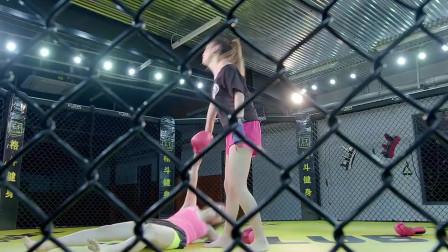 女人打拳击这么刺激?下手太狠了