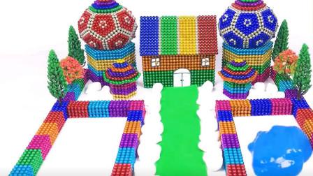 益智玩具城堡,多美的游泳池